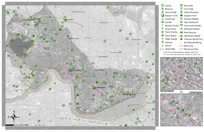 the camberville green map aims to produce thorough greenmaps of cambridge and somerville machusetts a greenmap plots the locations of environmentally